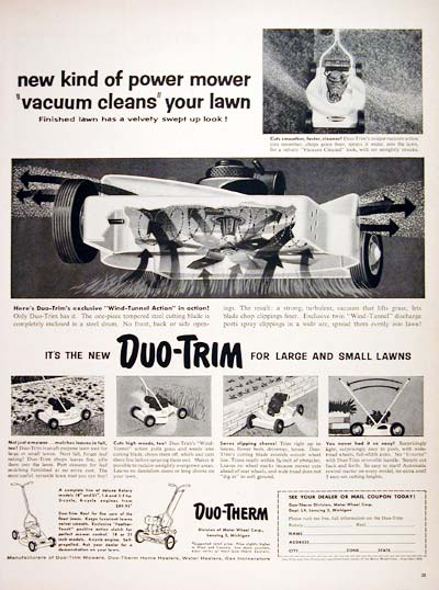 1955 Duo Trim Lawn Mower #007710