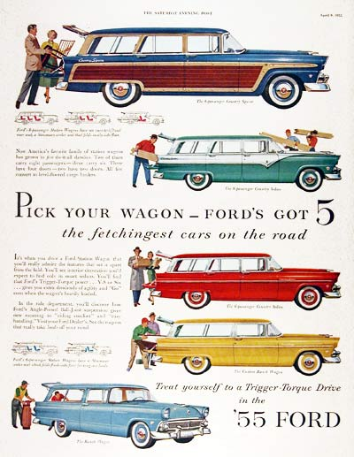 1955 Ford Station Wagon Line #003808