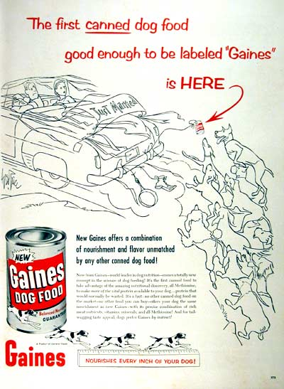 1955 Gaines Dog Food