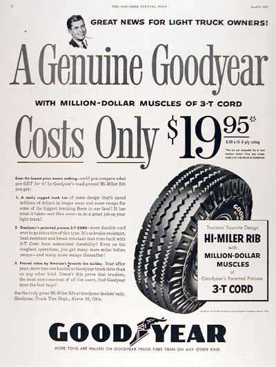 1955 Goodyear Truck Tires #003798