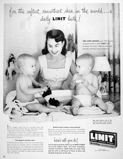 1955 Linit Laundry Starch #004115