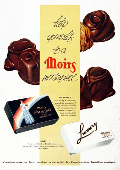 1955 Moirs Chocolates
