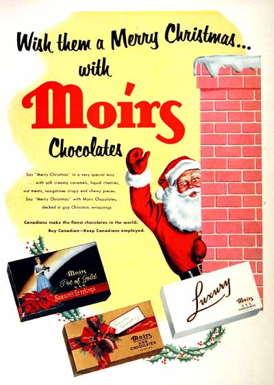1955 Moirs Chocolate #002174