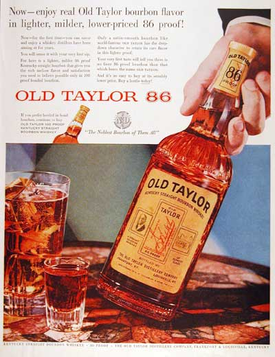 1955 Old Taylor Whiskey #003771