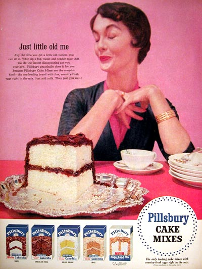 1955 Pillsbury Cake Mix #015905