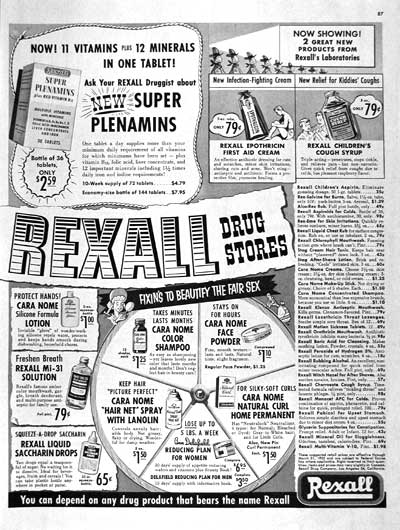 1955 Rexall Drug Stores