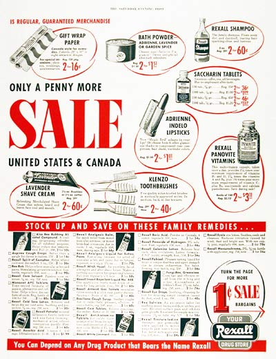 1955 Rexall Drug #003813