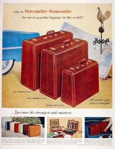 1955 Samsonite Luggage #003668