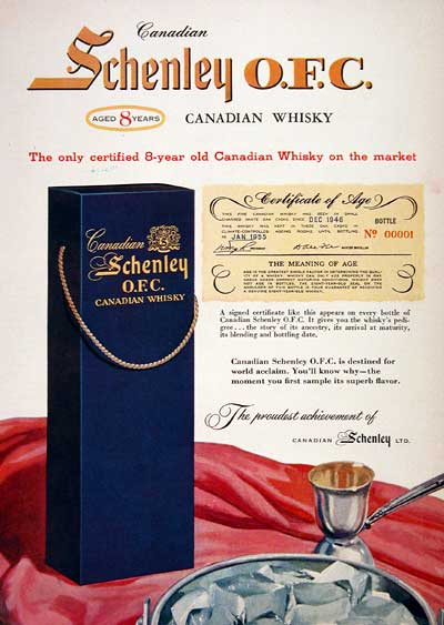 1955 Schenley Whiskey #002971
