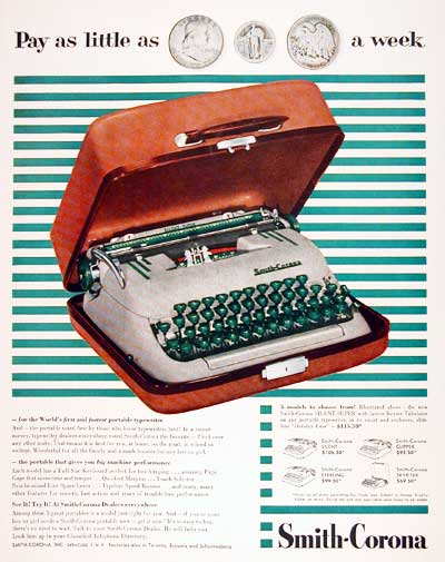 1955 Smith Corona Typewriter #003791