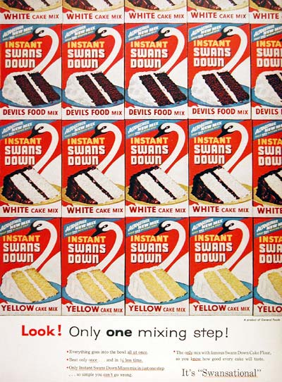 1955 Swans Down Cake Mix #007705