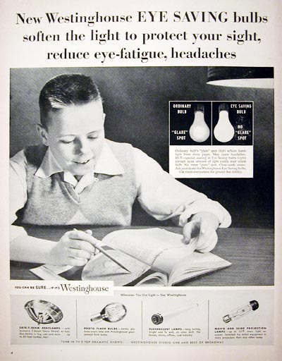 1955 Westinghouse Light Bulbs #015886