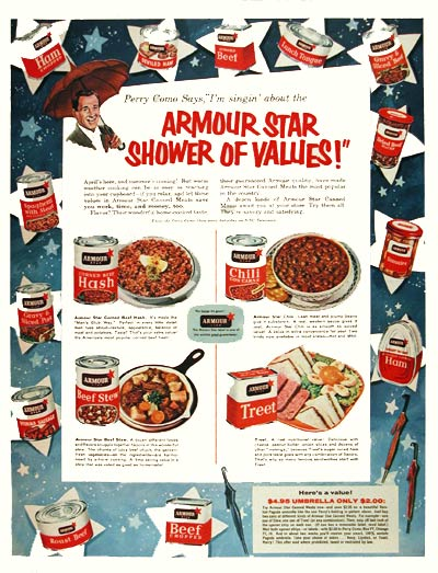 1956 Armour Canned Foods #004437