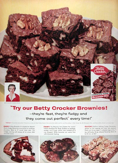 1956 Betty Crocker Brownies #009370