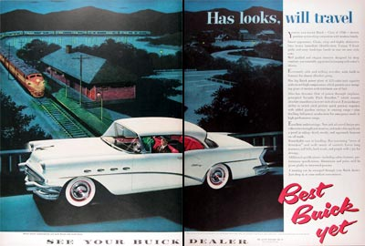 1956 Buick Century Coupe Vintage Ad #024747