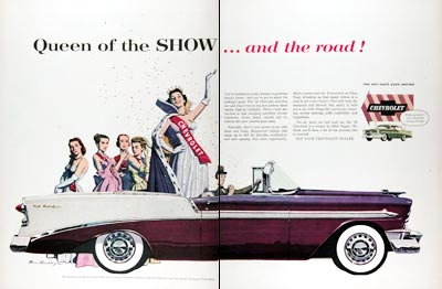 1956 Chevrolet Bel Air Convertible Vintage Ad #024766