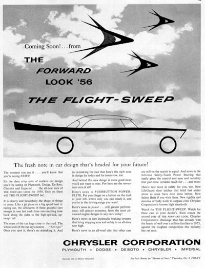 1956 Chrysler Flight Sweep