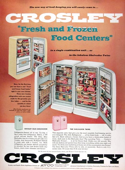 1956 Crosley Refrigerators #009384