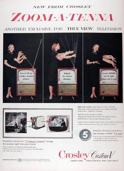 1956 Crosley Custom TV Vintage Ad #24797