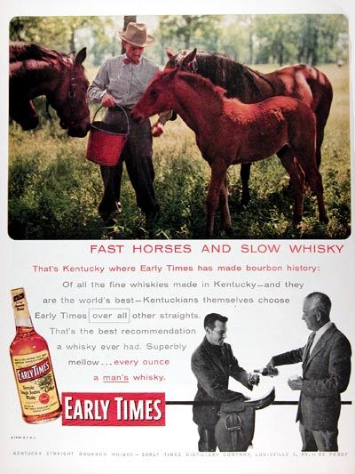 1956 Early Times Whiskey #009375
