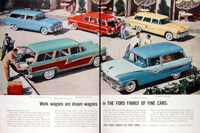 1956 Ford Station Wagons #006689