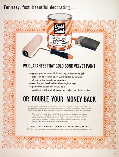 1956 Gold Bond Paint #006969