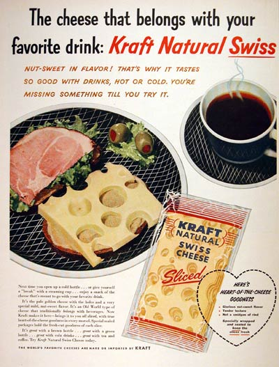 1956 Kraft Swiss Cheese #004435