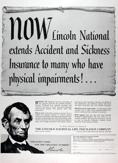 1956 Lincoln Life Insurance #009356B