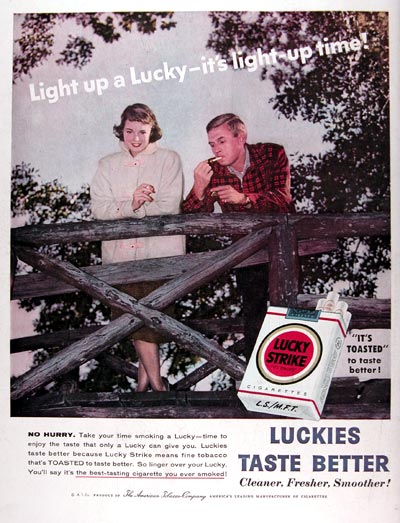 1956 Lucky Strike Cigarettes #009393