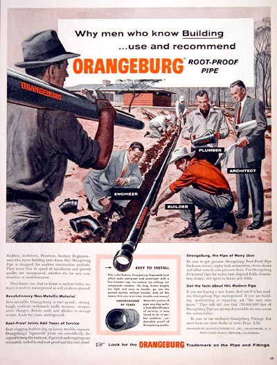 1956 Orangeburg Pipes #007585