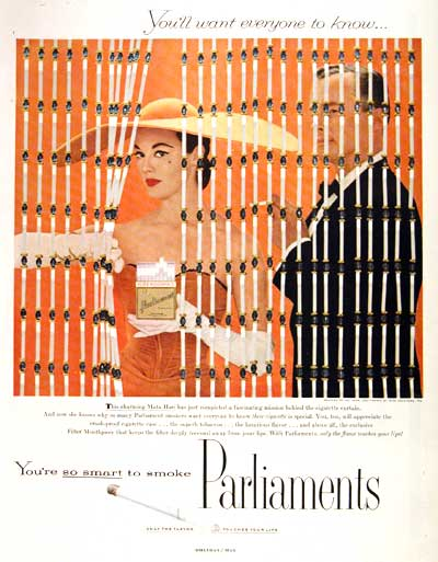 1956 Parliament Cigarettes #002842