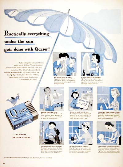 1956 Q-Tips Cotton Swabs #006686