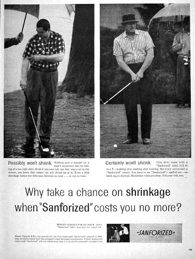 1956 Sanforized Shirts #006661