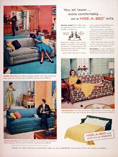 1956 Simmons Hide A Bed #007552