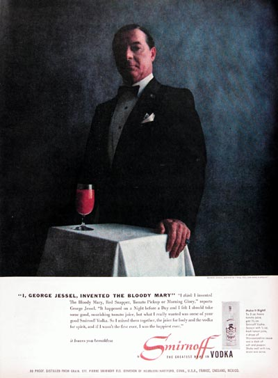 1956 Smirnoff Vodka ~ George Jessel #009366