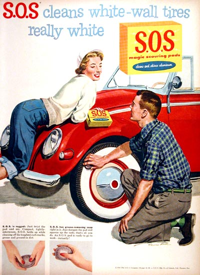 1956 S.O.S. Scouring Pads #007531
