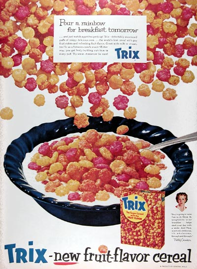 1956 Trix Breakfast Cereal #009357