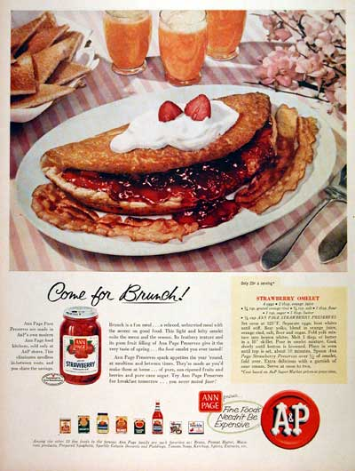 1957 A&P Strawberry Preserves #007195