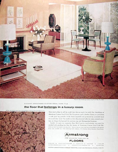 1957 Armstrong Cork Tile Floor #0014636