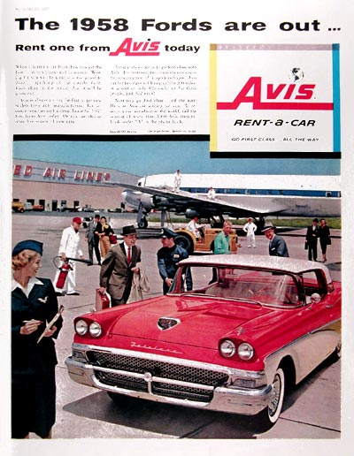 1957 Avis Rent a Car #014739