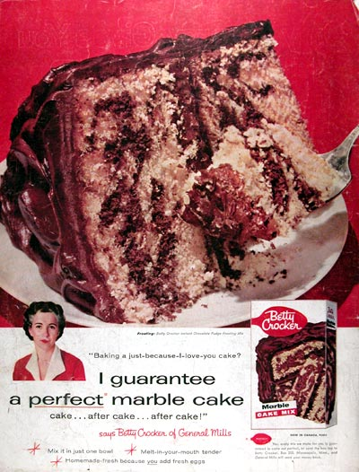 1957 Betty Crocker Marble Cake Mix #014832