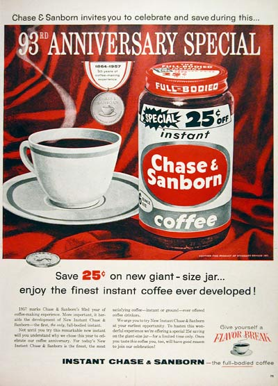1957 Chase & Sanborn Coffee #007191