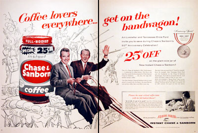 1957 Chase & Sanborn Coffee #006856