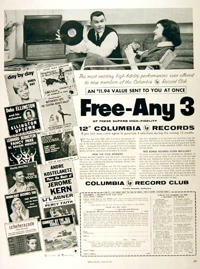 1957 Columbia Record Club