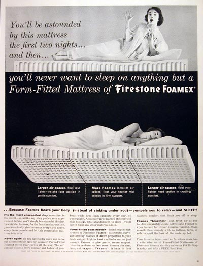 1957 Firestone Foamex Mattress #007086