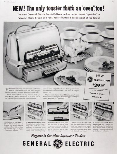 1957 GE Toaster Oven #014724