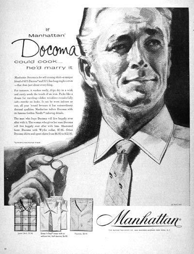 1957 Manhattan Docoma Shirts #007174