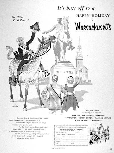 1957 Massachusetts Tourism #002673