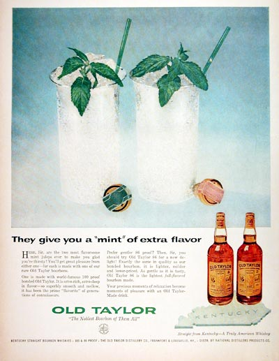 1957 Old Taylor Bourbon Whiskey #006741