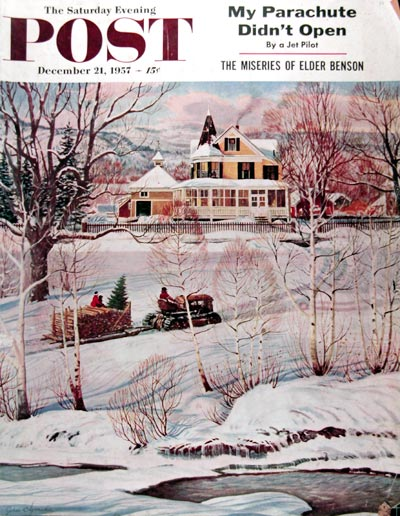 1957 Post Cover - Christmas in New Hampshire #0014635